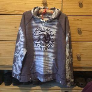 XL Capitals Beach Tie Dye Hooded Sweatshirt